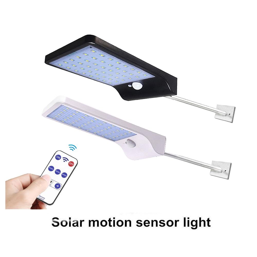 Led Solar Light Power Garden Lamp Solar Lighting 48 Led Warm White Pole PIR Motion Sensor Waterproof For Outdoor,street,wall,yar
