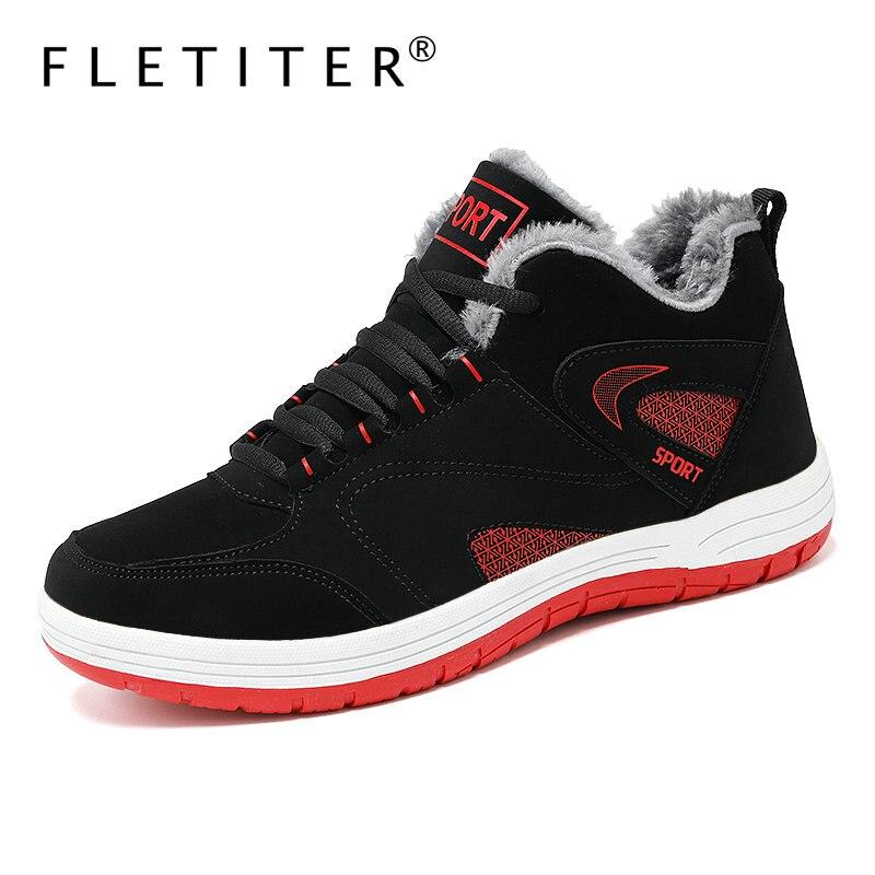 Мужские зимние кроссовки с плюшевой подкладкой; Теплая Повседневная обувь; Водонепроницаемые зимние ботинки; Мужская обувь на шнуровке; Нескользящие мужские кроссовки; Fletiter Повседневная обувь    АлиЭкспресс