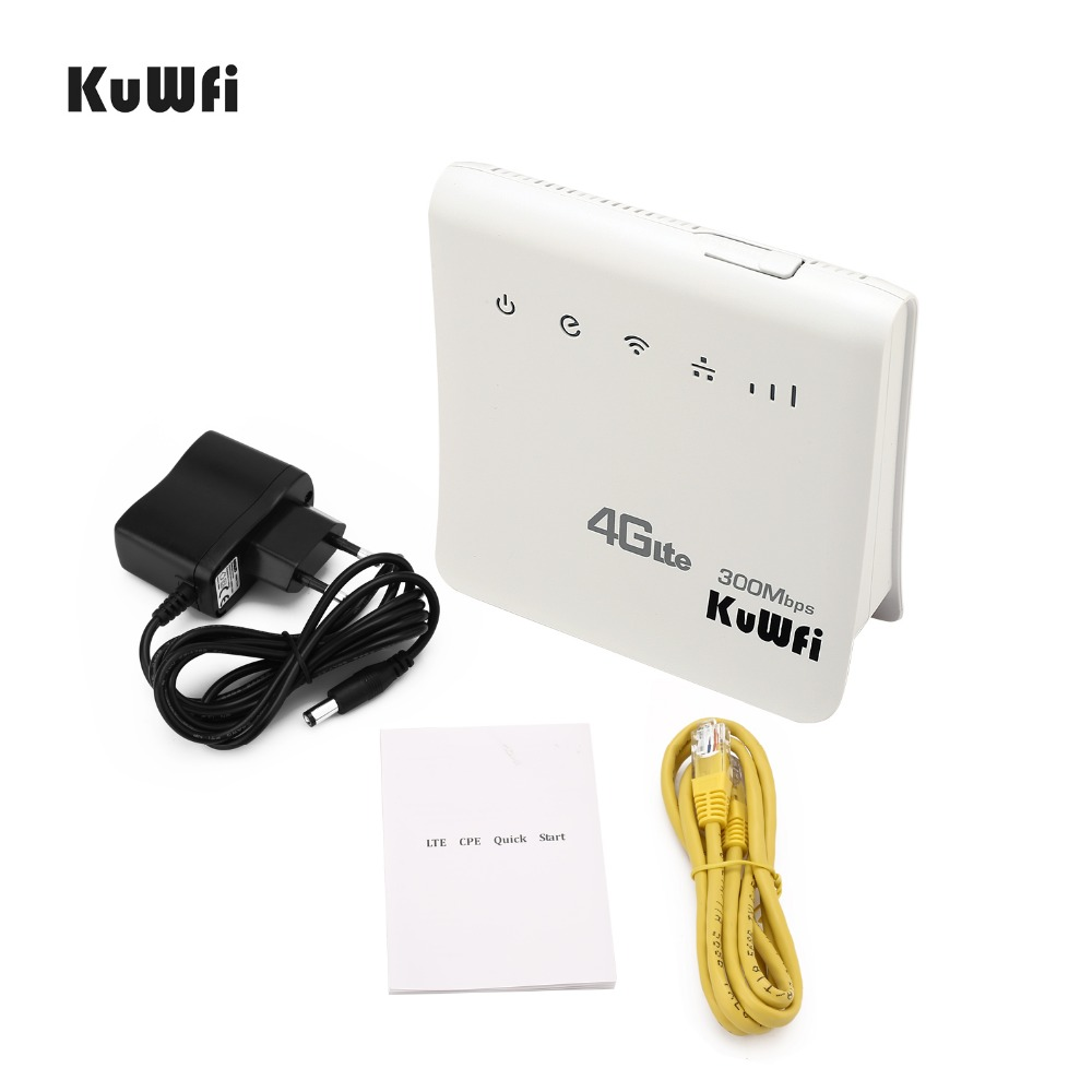 Unlocked 300Mbps Wifi Routers or 4G LTE CPE Mobile Router with LAN Port Support and SIM card 12