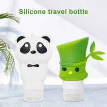 60/90ml Portable Silicone Refillable Travel Container Bamboo Panda Lotion Hand Sanitizer Shampoo Cosmetic Squeeze Bottle Holder