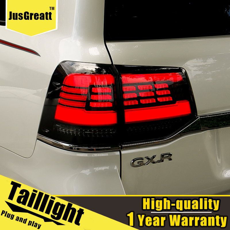 Автомобильный Стайлинг для Toyota Land Cruiser 16-20, задсветильник в сборе, светодиодный задние фары + Динамический сигнал поворота + светильник задне...