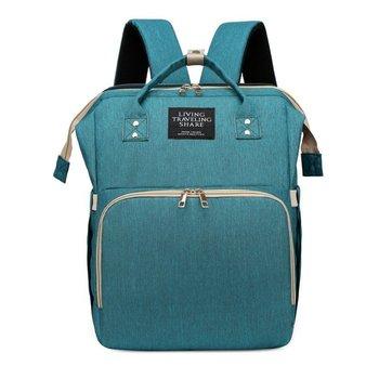 Baby Diaper Bag Removable Folding Bed Backpack USB Charging Mummy Bag Sunshade Maternity Nappy Bag Waterproof Large Capacity Bag - Green