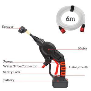 Image 4 - 320PSI yüksek basınçlı araba yıkama şarj edilebilir aksesuarları lityum pil kablosuz sprey su araba temizleme tabancası el temizleyici