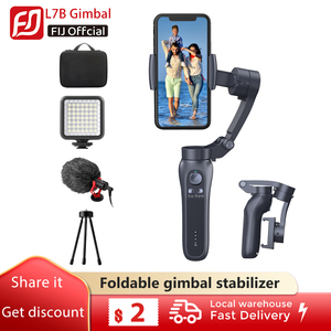 Handheld Gimbal Smartphone Foldable Gimbal Stabilizer Pocket Sized 3-Axis Handheld Selfie Stick Stabilizer for Xiaomi Iphone