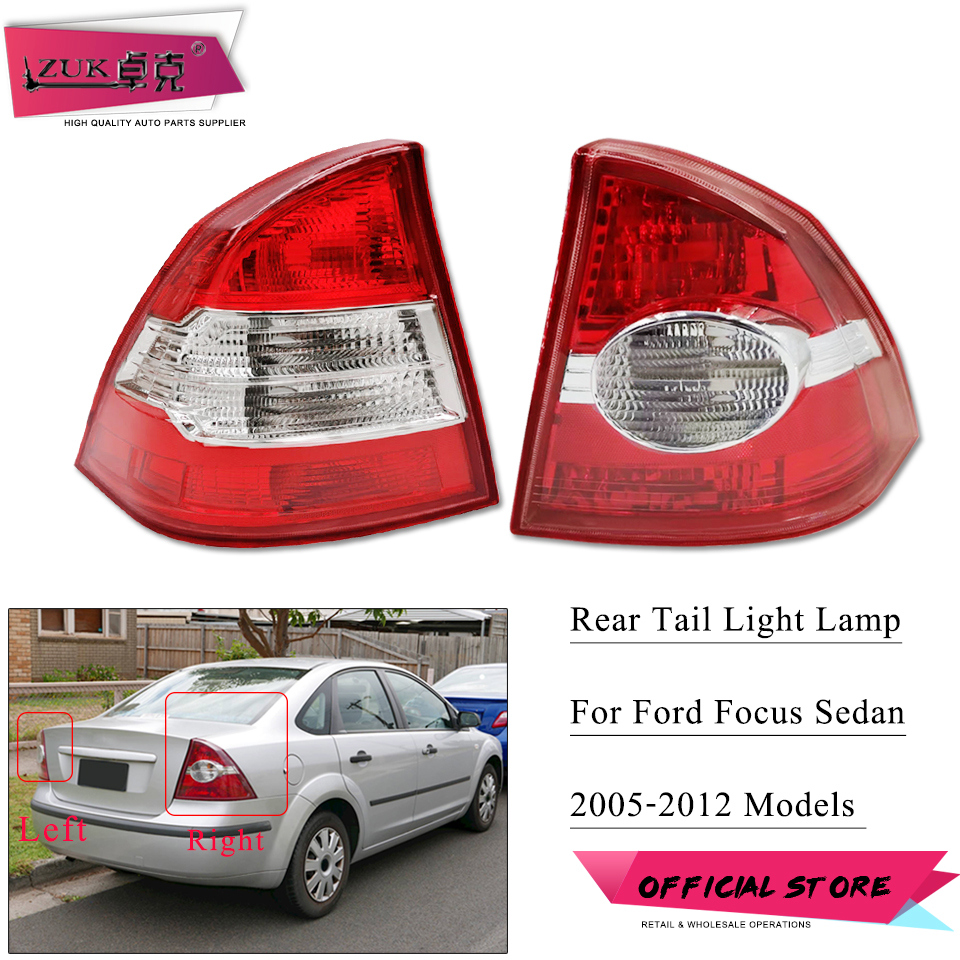 ZUK Tail Light Tail Lamp For <font><b>Ford</b></font> <font><b>Focus</b></font> Sadan / Saloon 2005 2006 2007 2008 2009 2010 2011 2012 Rear <font><b>Taillight</b></font> Taillamp image