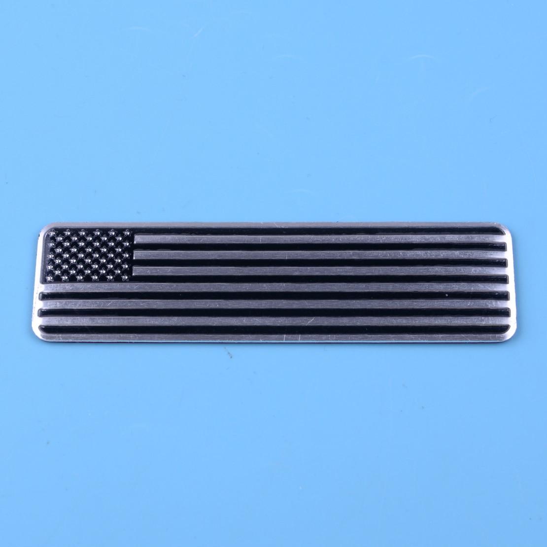 DWCX Универсальный алюминиевый сплав автомобильный топливный бак для мотоцикла США американский флаг сплав эмблема значок наклейка аксессу...