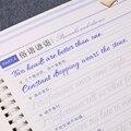 3D Круглый английский многоразовый паз для каллиграфии  копировальная книга  стираемая ручка для изучения английского языка  для взрослых  х...