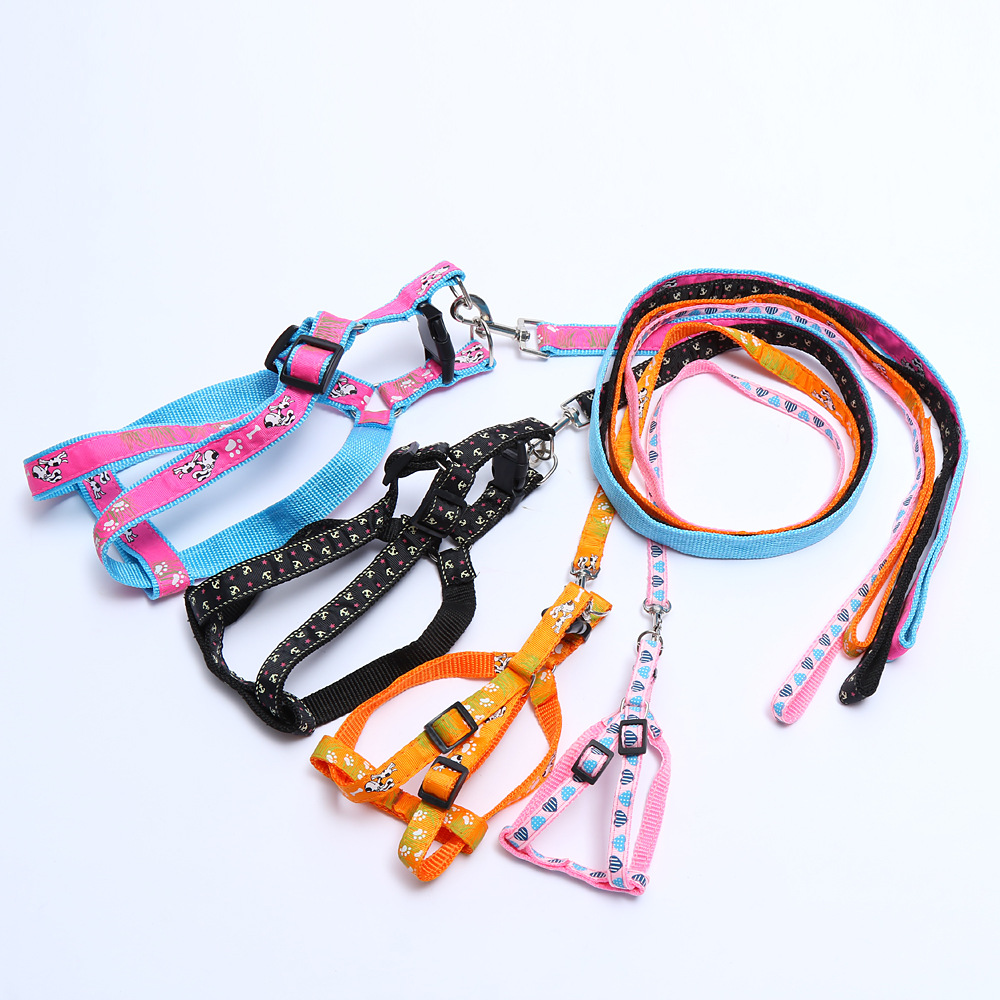 Large Size Multi-color Flower Stickers Pet Traction Rope Dog Applique Traction Belt Xiong Bei Tao Dog Rope