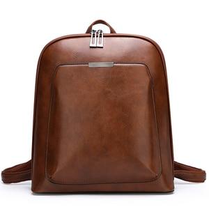 Image 4 - 2019 Summer fashion women backpack high quality leather backpacks female bagpack solid school shoulder bag for girls Sac a Dos