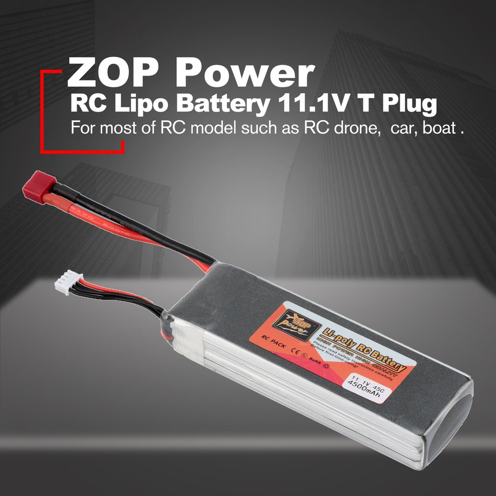ZOP Power 14.8V/11.1V/7.4V/ 5000mAh/4500mAh/1300mAh/1500mAh/3500mAh/6000mAh 60C 4S 1P Lipo Battery XT60 Rechargeable image