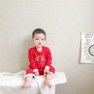 Китайская традиционная высококачественная одежда для маленьких мальчиков, хлопковый комбинезон на пуговицах, детский комбинезон + Новогод...