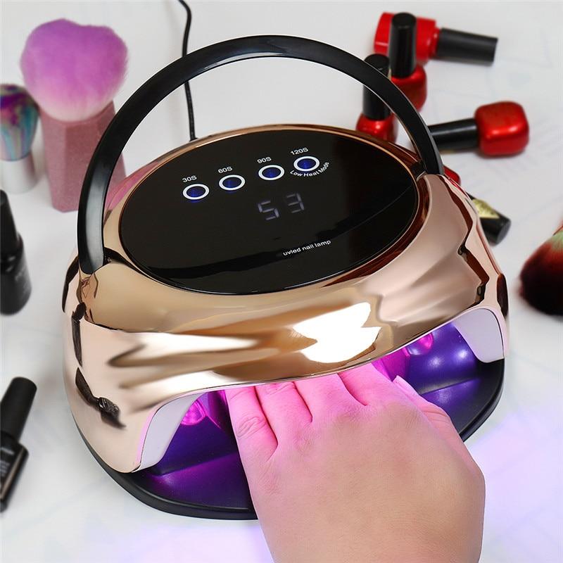 XZM по на гвозде лампа 92W новейшая лампа УФ; Светодиоды; Ногти лак для ногтей гель-Профессиональная УФ-лампа с умным Сенсор и таймер для маникю...