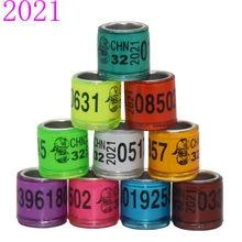 Brincos 50 peças 2021 multicolor pés anel, com palavra brincos de qualidade durável pássaro anel de corrida anel de porquinho pé ferramentas pássaro