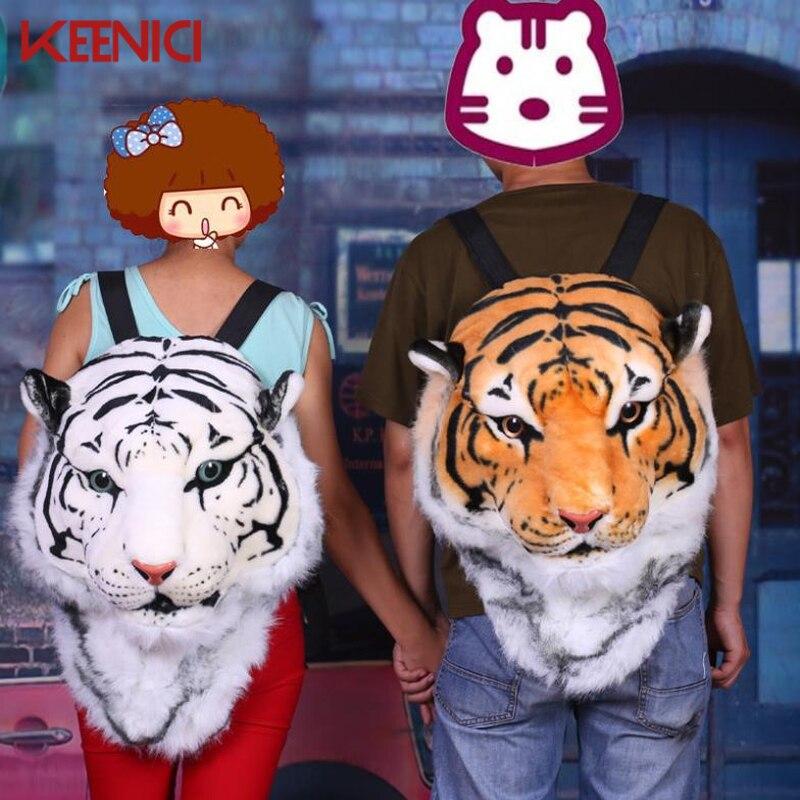 KEENICI Bigbang G-dragon с хорошим подарком, новая крутая огромная Роскошная голова льва, тигра, белая леопардовая голова, рюкзак, рюкзак