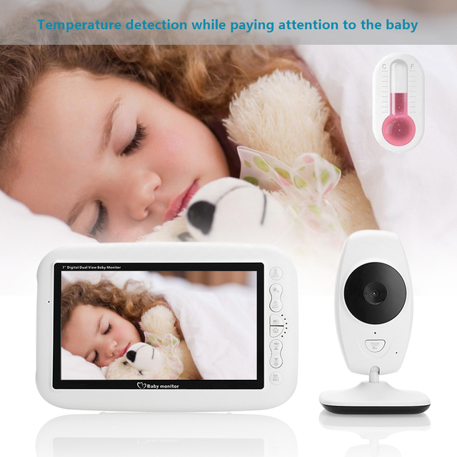 LOOZYKIT Color LCD Baby Monitor Wireless Digital Video Display Two-Way Voice intercom Night Vision Temperature Sensing Lullaby 5