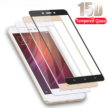 Full cover tempered glass for xiaomi redmi 4 note 4 4x screen protector on xiomi ksiomi note4 x4 gals on no 4 x protective film(China)