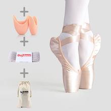 Frauen Ballett Tanz Schuhe Kind und Erwachsene Ballett Pointe Tanz Schuhe Berufs mit Bänder Schuhe Satin Leinwand Schuhe Turnschuhe