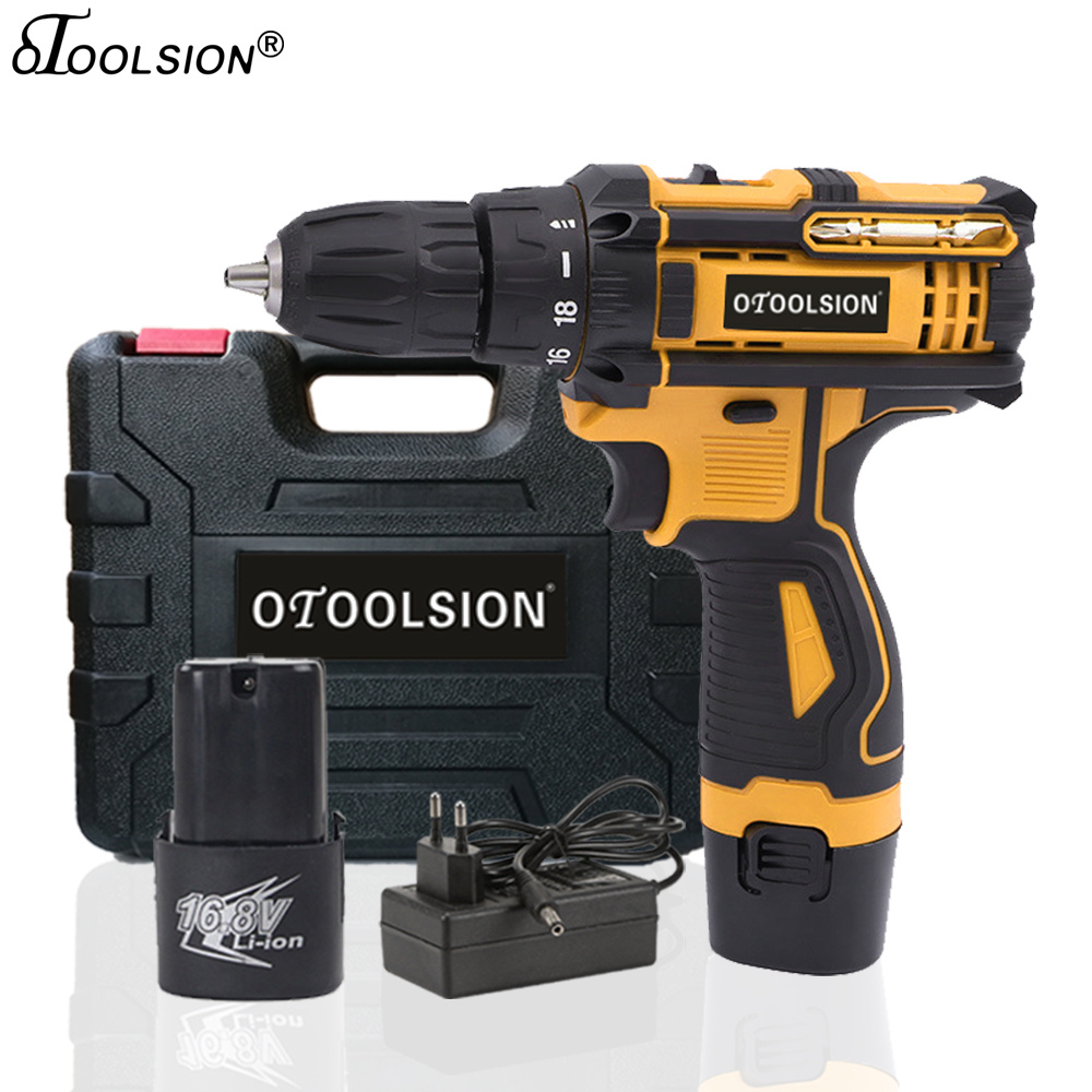 New 16.8V 1500Mah Electric Screwdriver Electric Drill Power Tools Cordless Drill Torque With Screwdriver Box Variable Speed