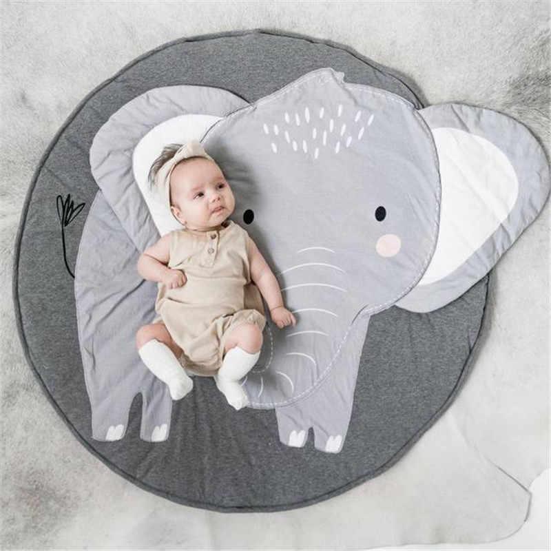 Elefante Dos Desenhos Animados Tapetes De Jogo Do Bebe Cobertor