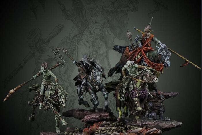 1/32 54MM Horsemen Of The Apocalypse INCLUDE 4     Resin Figure Model Kits Miniature Gk Unassembly Unpainted