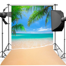 Summer Beach Background for Photography Blue Sky and White Clouds Photography Backdrop For Photo Studio 5x7ft dark blue backdrop dark blue ocean world photography background and photography studio backdrop props