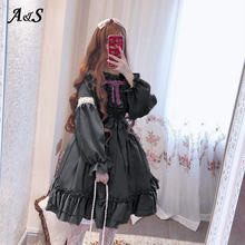 Женское платье в стиле Харадзюку anbenser Лолита с оборками