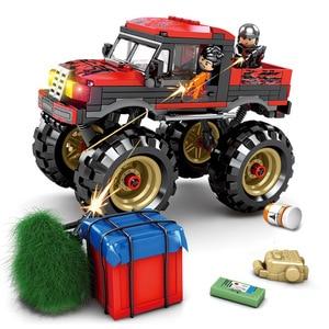 Image 2 - SY1326 282 шт спецназ PUBG город армейское оружие WW2 солдат монстр грузовик модель строительные блоки кирпичи детские игрушки блоки военные
