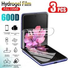 3 pçs protetor de tela de filme de hidrogel para samsung galaxy z flip macio proteger filme para samsung z telefone flip proteger filme não vidro