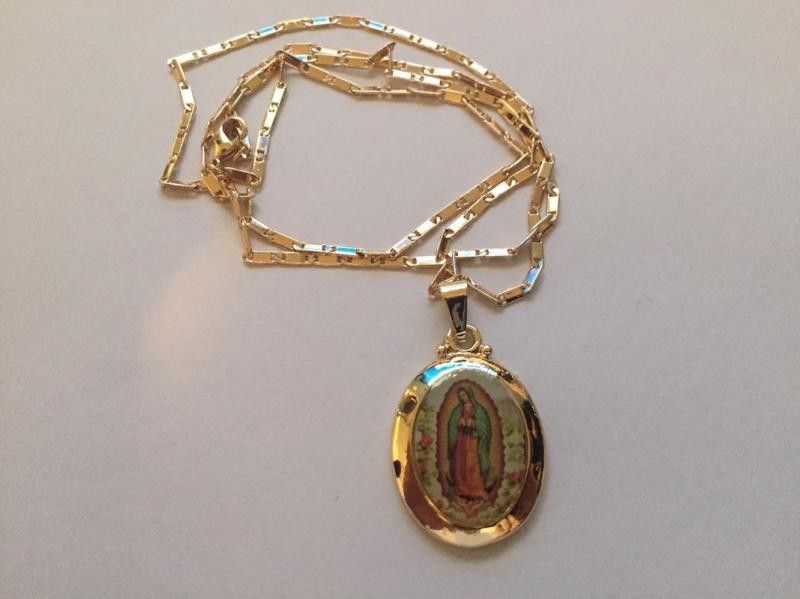 Женские религиозные Стиль Девы Марии Гваделупа подвеска в форме капли ожерелье, Женские Ювелирные изделия