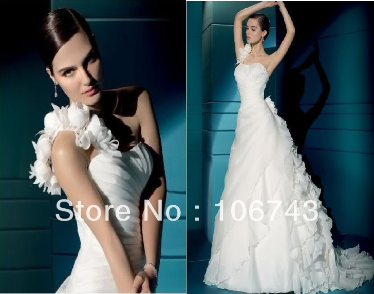 Free Shipping New Style Hot Sale Sexy Bride Wedding Sweet Princess Custom Size Flowers Criss-cross Wedding Mother Of Bride Dress