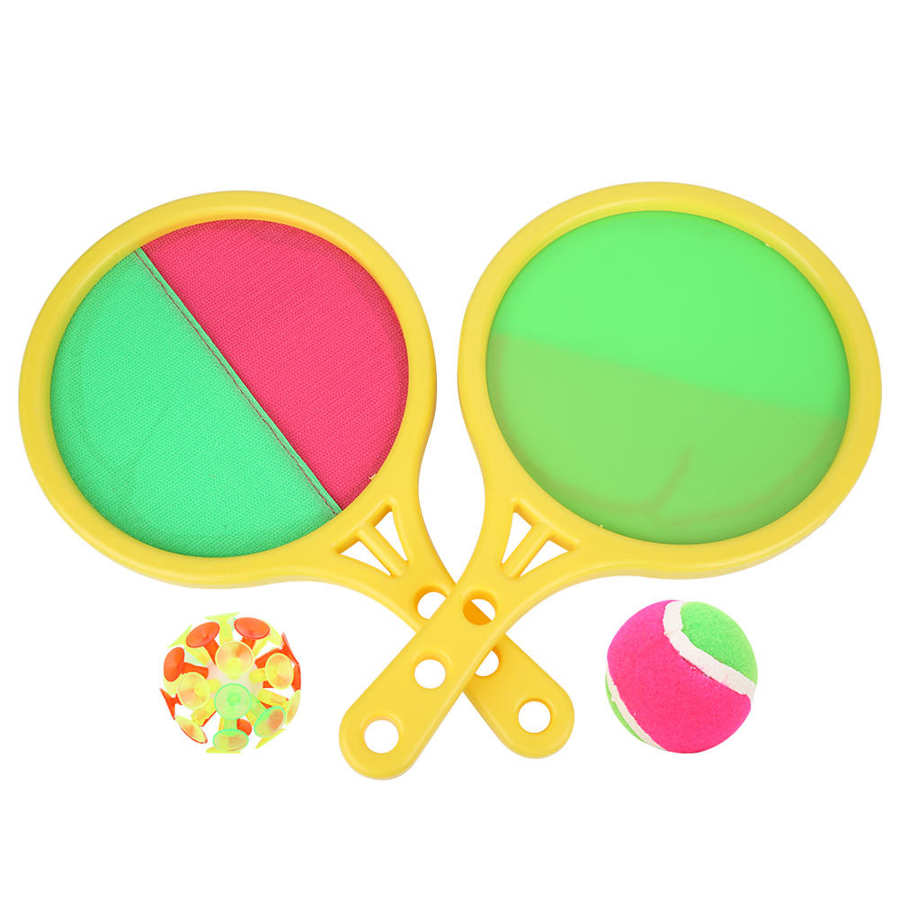 Stick Racket-Set 2-In-1 Catching-Ball Handle Throw-Catch-Toy Racquet Sports Parent-Child
