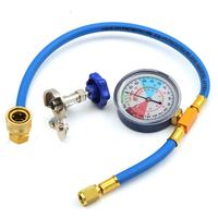 250PSI Recharge Measuring Hose Gauge Valve Refrigerant Pipe R134A R12 R22 Car Auto AC Air Conditioning|Air-conditioning Installation| |  -