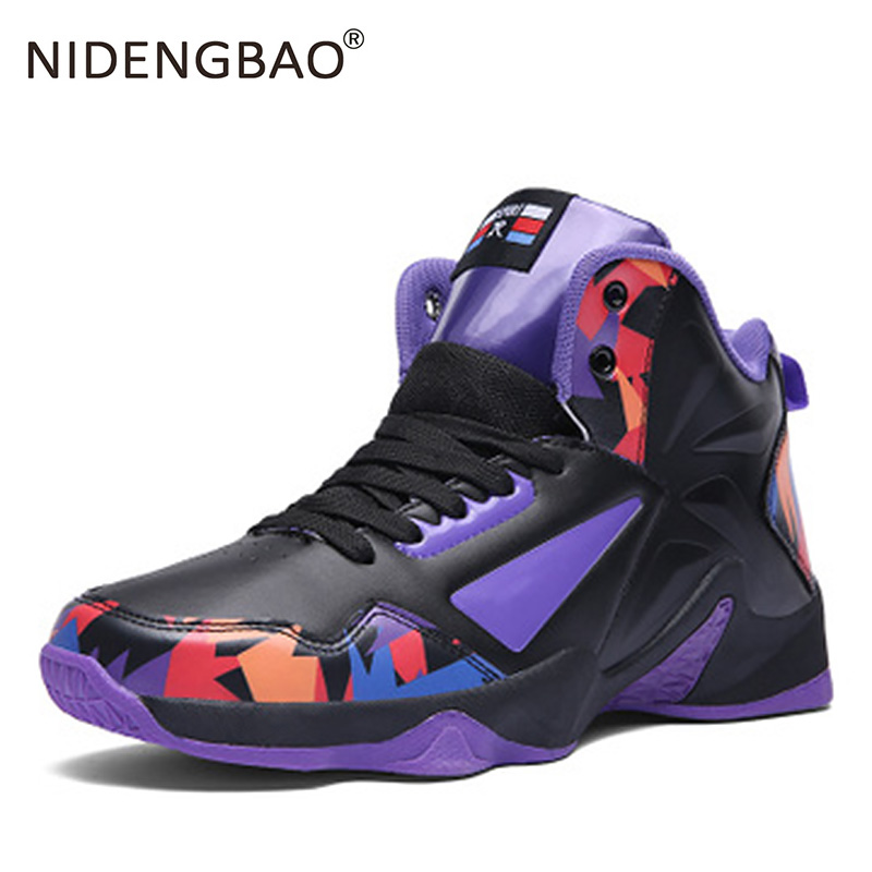 High top Basketball Sneakers Men Women Anti skid couple sport shoes Outdoor Men Athletic shoes High Boots Basket size 36 46|Basketball Shoes| |  - title=