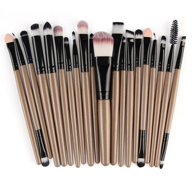 20pcs/set Makeup Brushes Pro Blending Eyeshadow Powder Foundation Eyes Eyebrow Lip Eyeliner Make up Brush Cosmetic Tool 2