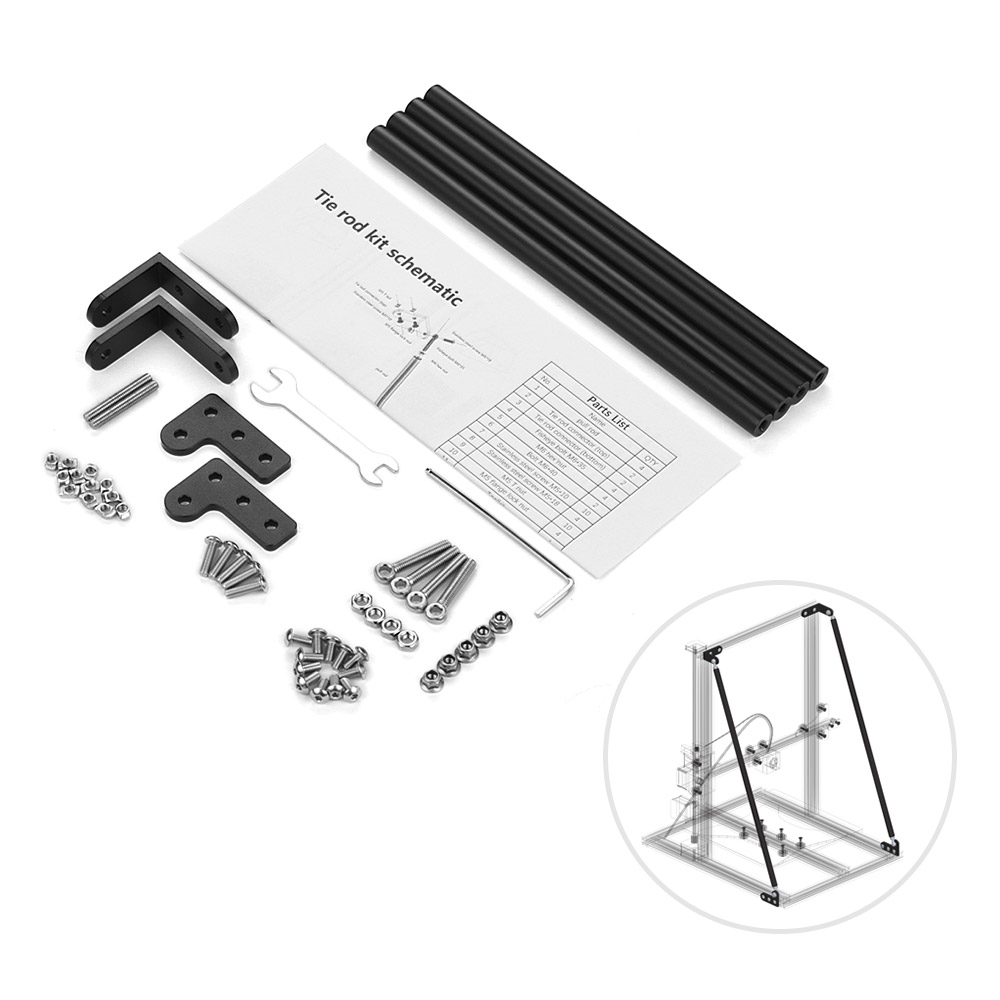 Aluminum Profile Supporting Pull Rod Kit for Creality 3D CR-10/CR-10S/CR-10S4