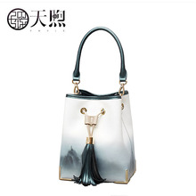 Pmsix New Women leather bag fashion cowhide bag luxury handbags women bags designer cowhide leather shoulder bag women tote bag tomubird new superior cowhide leather designer inspired flower ladies handmade leather tote satchel handbags