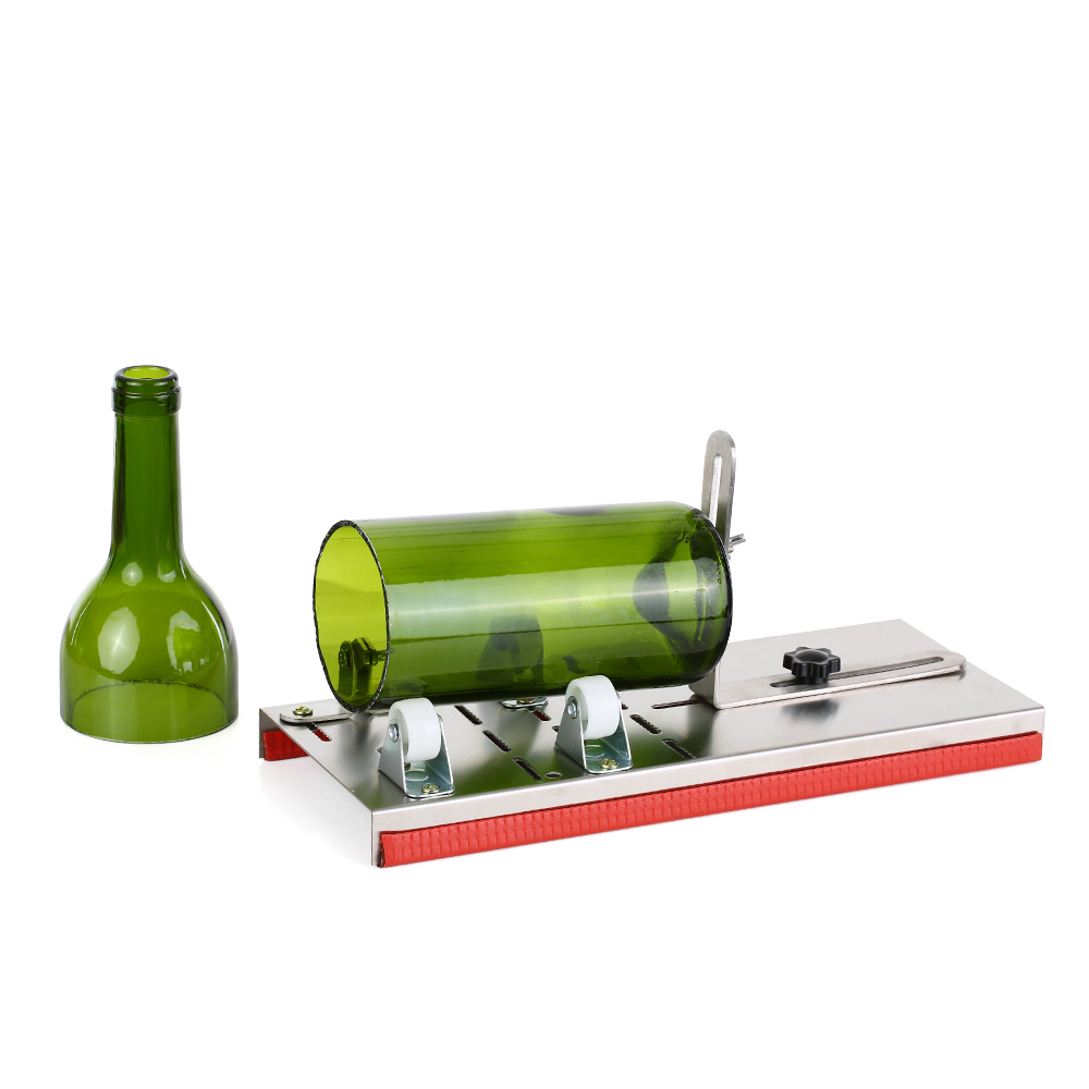Stainless Steel Glass Cutter Adjustable Glass Bottle Cutter DIY Cutting Tool For Wine Beer Round Square Oval Bottles Mason Jars