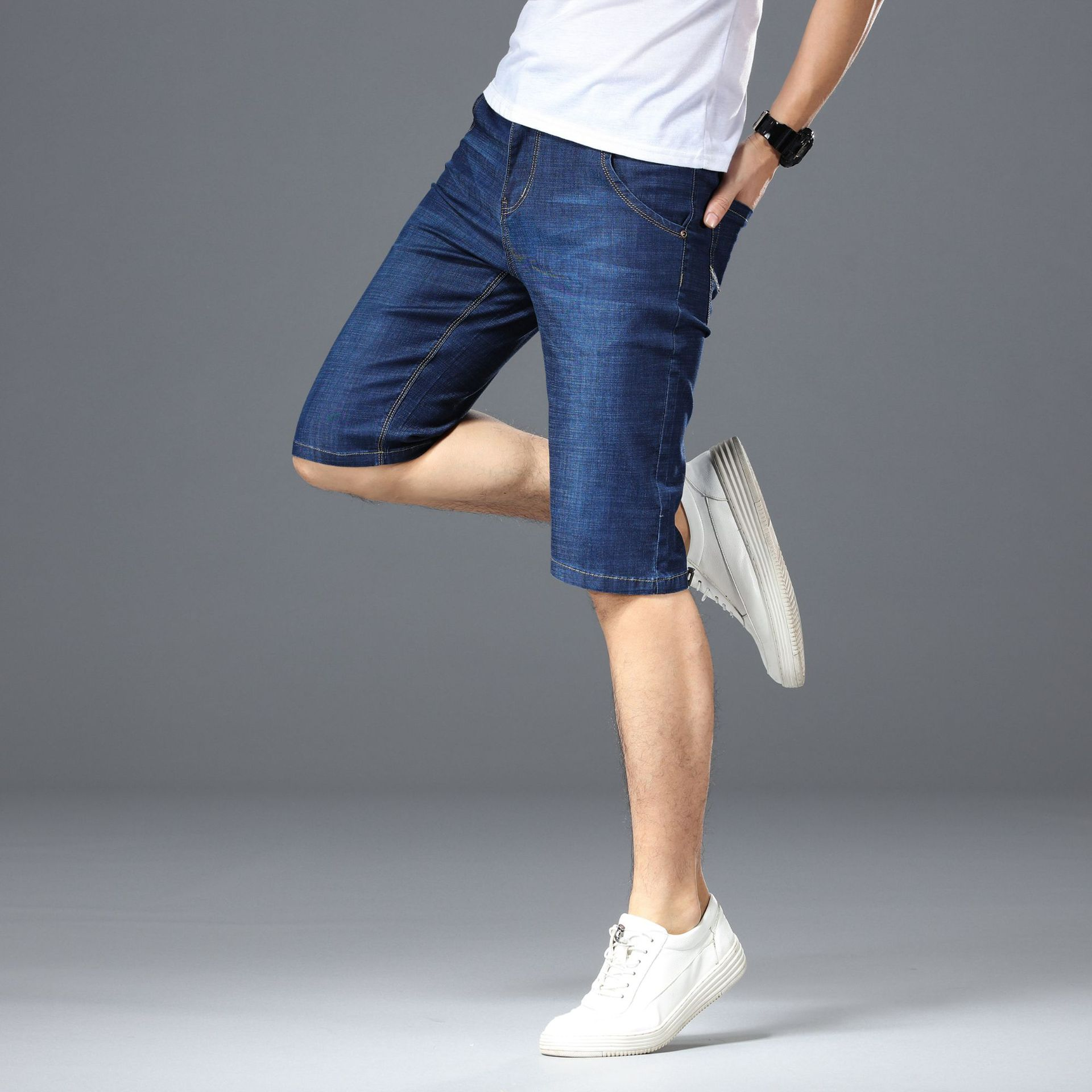 Korean-style Summer New Products Fashion Jeans Men's 2019 Trend Loose-Fit Youth Men Short Shorts