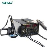 YIHUA 968DA + Reparação Estação de Retrabalho Ar Quente Com Digital SMD Ferro De Solda Dica|Ferros de solda elétrica| |  -