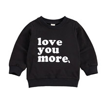 Tops T-Shirt Baby-Boys-Girls Toddler Winter Letter Cotton Blouses Pullovers Soft 0-4Y
