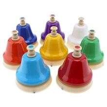ИРИН 8 шт./компл. 8 Note диатонические металлические ручные колокольчики набор ударный инструмент для детей музыкальный инструмент игрушка