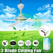 Environmental-friendly 12V 6W Solar Ceiling Fan Solar Powered Cooling Fans Small Air Conditioning Appliances(China)