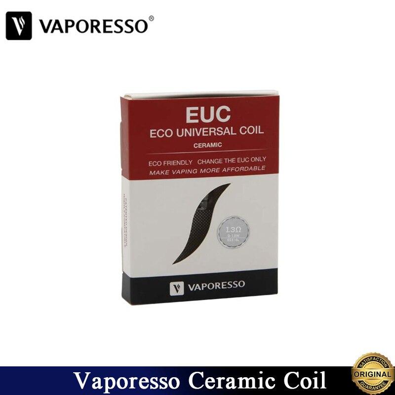 5pcs/lot Original Vaporesso Ceramic EUC 0.5ohm SS316L Coil Head Without Sleeve For Tarot Nano/Nebula/Estoc/Target Pro E-Cig Tank