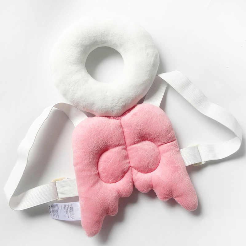 Sevimli bebek yenidoğan kafa ve arka koruma yastık Toddler kanatları damla direnci pedi Guardian yastık oyuncaklar Bm88