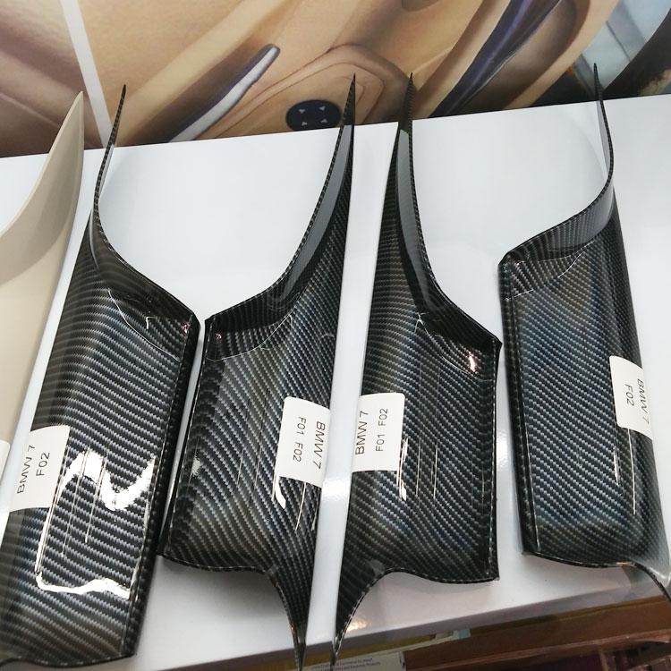Door-Handles Trim-Cover Carbon-Fiber 7-Series Car-Interior Rear Bmw F01 F02 Front