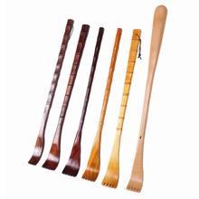 Caneta massageadora em madeira natural, prendedor para caneta, raspador traseiro, manual, m89f, 1 peça