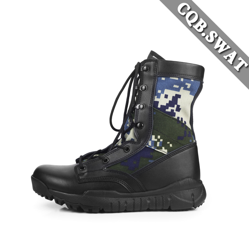 Ultra-Light For Combat Boots Cqb. SWAT Camouflage Autumn Combat Boots SFB Canvas Breathable Boots CS Hight-top Combat Boots Comb