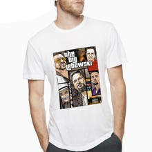 Camiseta GTA Big Lebowski Jeff Bridges The Dude, Camiseta grande para hombre, Camiseta 100% algodón, talla grande, diseño Punk, ropa de calle(China)