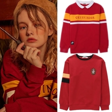 Wizard School Hufflepuff Ravenclaw Slytherin Cosplay Costume Sweatshirts Uniform Embroidery Hoodie Thick Velvet Coat Sweater