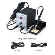 2 in 1 Professional LCD Digital Hot Air SMD Soldering Station Rework Station Adjustable 220 V Soldering Iron for Soldering